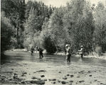 Group of fishermen on the Pecos River, New Mexico