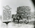 """Torreon"" stone tower in Lincoln, New Mexico"