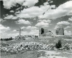 Ruins of mission church at Pecos Pueblo, New Mexico