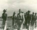 200th Coast Artillery during Governor's Day ceremonies at Camp Luna near Las Vegas, New Mexico,...
