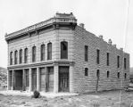 Abandoned bank building in old mining town of White Oaks, New Mexico