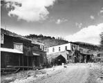 Street scene in the once prosperous mining town of Mogollon, New Mexico