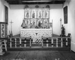 Reredo from church at Llano Quemado near Taos, Ecclesiastical Room, Palace of the Governors, Santa...