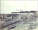 Santa Fe Railroad bridge construction, Sais, New Mexico