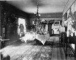 Dining room during term of Governor L. Bradford Prince (1889-1893), Palace of the Governors, Santa...