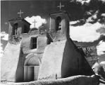Heavily-buttressed Saint Francis de Assissi Church, Ranchos de Taos, New Mexico