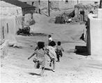 Children playing at Laguna Pueblo, New Mexico