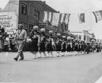 Women from Zuni Pueblo parading in Gallup, New Mexico during Inter-Tribal Indian Ceremonial
