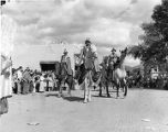 Riders in the De Vargas pageant during Fiesta, Santa Fe, New Mexico