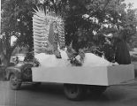 Historical Parade float, Santa Fe Fiesta, New Mexico