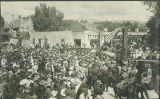 Crowds on Plaza during Fiesta, Santa Fe, New Mexico