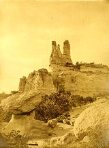 Navajo Church rock near Fort Wingate, New Mexico