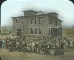 Students in front of High School building, Alamagordo, New Mexico
