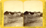 Group of adobe homes on Montoya Hill, Santa Fe, New Mexico