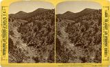 Hungry Gulch and miners cabins, Los Cerrillos mining district, New Mexico