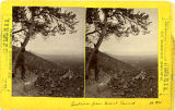 View looking east from Grant Tunnel, Los Cerrillos mining district, New Mexico