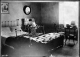 Bedroom used by Governor Lew Wallace, Palace of the Governors, Santa Fe, New Mexico
