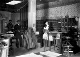 Interior of United States Post Office, Palace of the Governors, Santa Fe, New Mexico