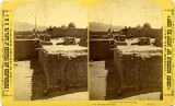 Scene in Tesuque Pueblo showing rooftop ovens (horno), New Mexico
