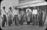 Men with catch of fish, Eddy County, Lakewood, New Mexico