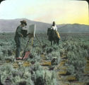 Artist Herb Dutton painting outside Taos, New Mexico