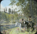 Jack and Lois Lambert at Hidden Lake, Canjilon Camp, New Mexico