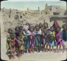 Group of Native American children at unidentified Pueblo