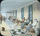 Guests relaxing at Campbell Hotel, Painted Desert, Arizona