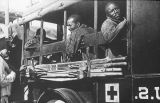 Soldiers in United State Army ambulance, Pershing Mexican Expedition, Mexico