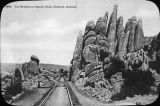 Train tracks through the Needles at Granite Dells, Prescott, Arizona