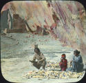 Navajo family husking corn in Canyon de Chelly, New Mexico