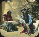 Basket weavers, Hopi Pueblo, Arizona