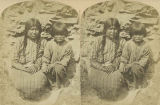 Nez-Perce woman and young boy, Idaho