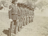 Military personnel in formation, Fort Apache, Arizona