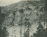 Cliff walls, Frijoles Canyon, Bandelier National Monument, New Mexico