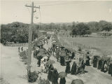 Corpus Christi Procession on Canyon Road looking northwest, Santa Fe, New Mexico