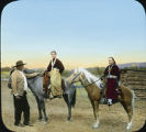 """Henry Dodge, King of the Navajo and his two daughters"" New Mexico"