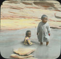 Hopi children in water, Arizona