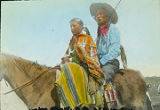 Navajo couple on horseback, New Mexico