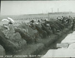Soldiers firing from the trenches, Pershing Expedition, Aqua Prieta, Mexico