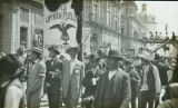 La Opinion Publica political parade during Mexican Revolution, Mexico