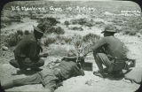 United States Army machine gunner practice, Pershing Expedition, New Mexico
