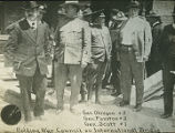 General Scott, General Funston and General Obregon holding war council on International Bridge, El...