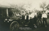 Boxer Jack Johnson out for a drive, Las Vegas, New Mexico