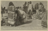 Apache Indians packing up rations, San Carlos, Arizona