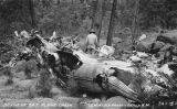 "Crash site of T.A.T. ""City of San Francisco"" plane on Mount Taylor, New Mexico"