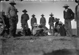 Cowboys in camp near Deming, New Mexico
