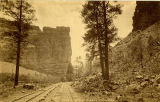 Railroad tracks at Castle Gate, Brice Canyon, Utah