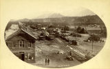 Railroad depot and tracks, Buena Vista, Colorado