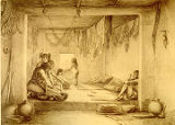 """Interior of a Moquis Dwelling, Puebla of Tegua"""